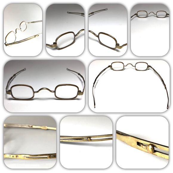 Hallmarked Other - 1800's Pre Civil War Era Antique Reading Glasses